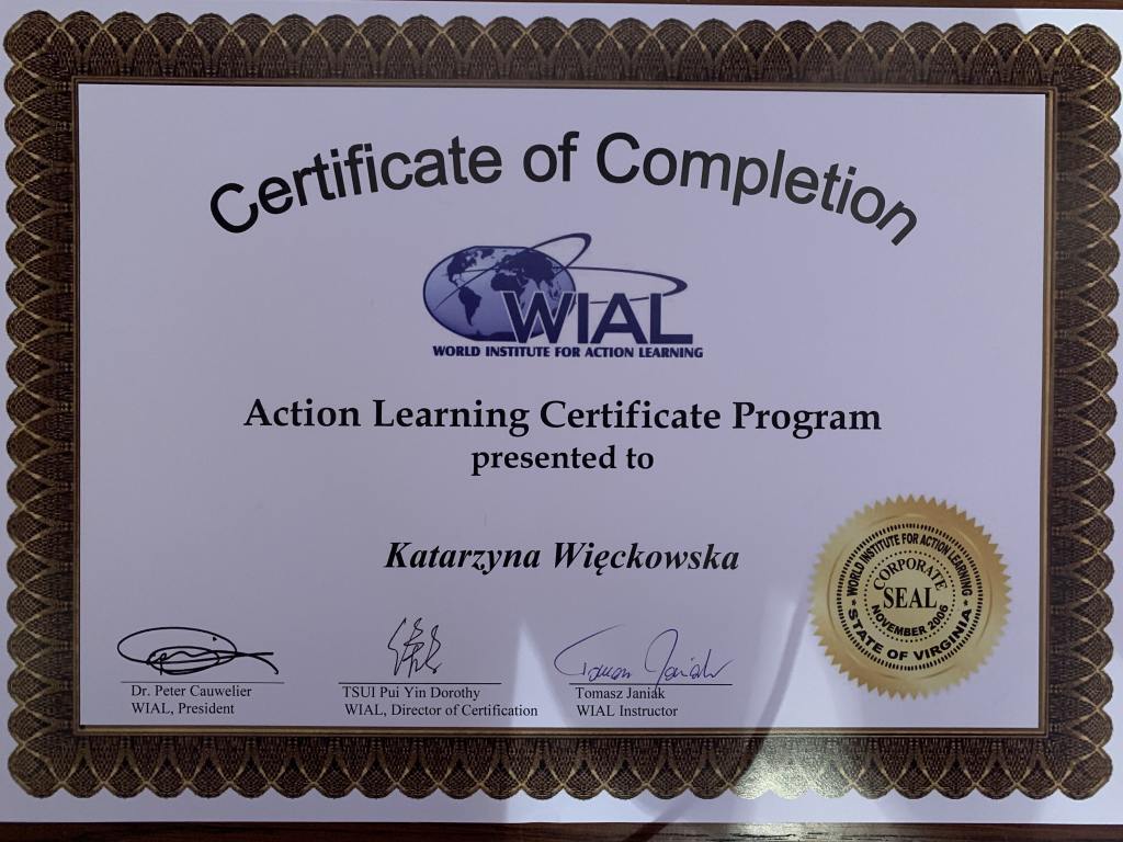 Certyfikat Coach Action Learning